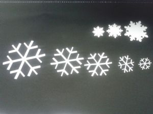 30 x Snowflake stickers for Christmas window decoration - mixed - six sizes
